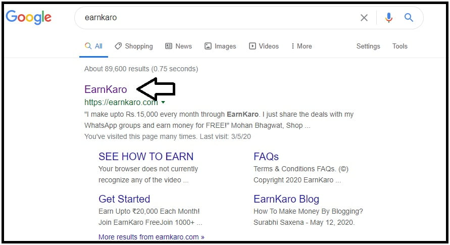 Step 1 Eaarnkaro Affiliate