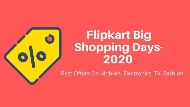 Flipkart Big Shopping Days-2020
