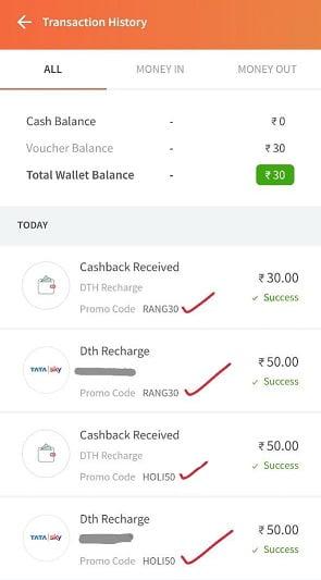 Freecharge Holi Offers Cashback Codes