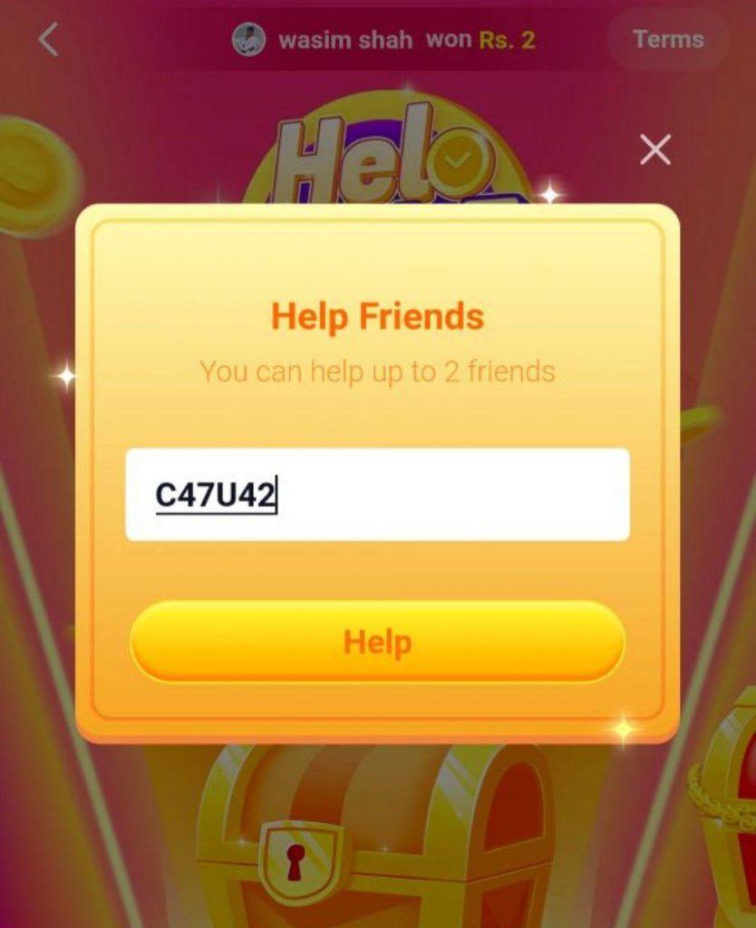 helo app online offer