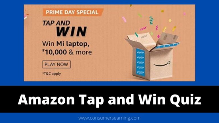 Amazon Tap and Win Quiz