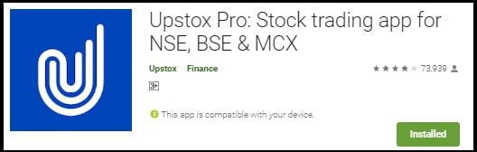 Upstox app