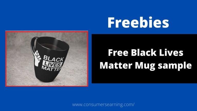 Free Black Lives Matter mug sample