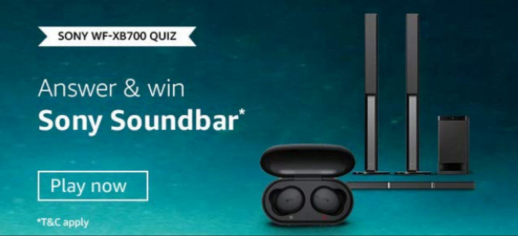 Amazon Sony Soundbar Quiz Answers