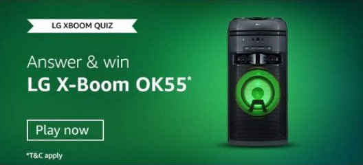 Amazon LG XBOOM Quiz Answers Win LG X-BOOM OK55