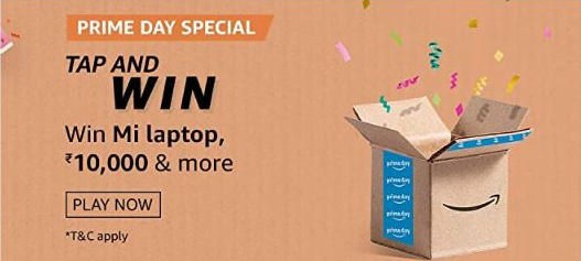Amazon Tap and Win Quiz Answers - Win Free Mi Laptop & Rs.10000 Pay Balance