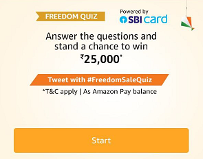 Amazon Freedom Sale Quiz Answers