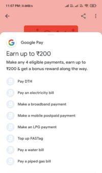 google pay new offer get 200 cashback