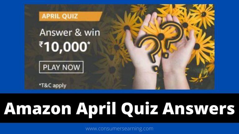 Amazon The April Quiz Answers