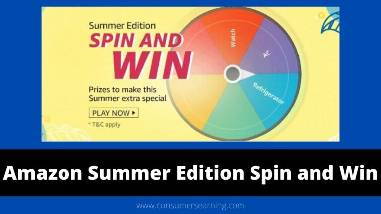 Amazon Summer Edition Spin and Win Quiz