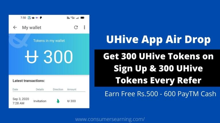 UHive App Air Drop Referral Code