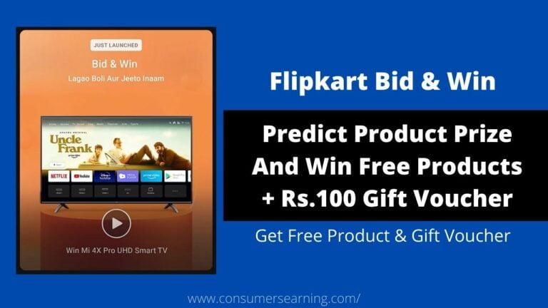 Flipkart bid and win quiz answers today