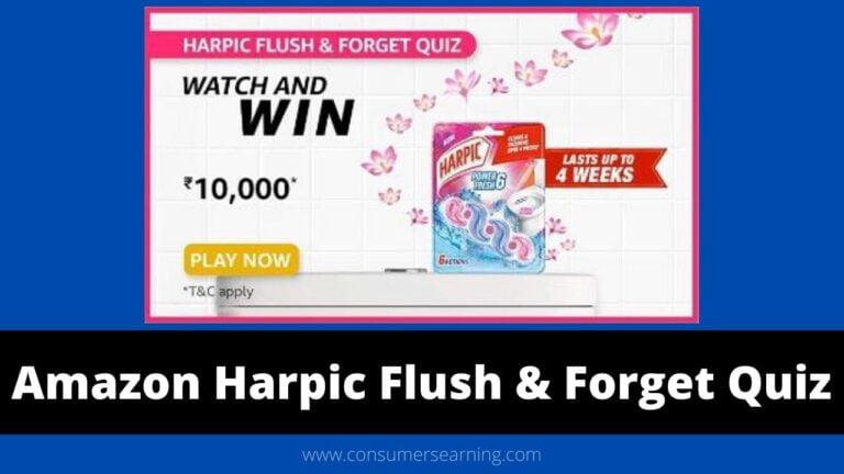 amazon Harpic Flush & Forget Quiz