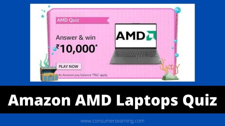 Amazon AMD Laptops Quiz Answers