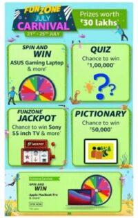 Amazon Funzone July Carnival Quiz Answers Today