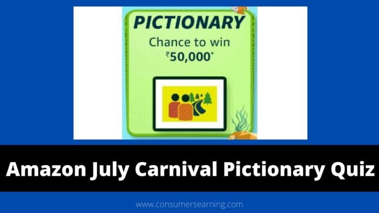 Amazon July Carnival Pictionary Quiz Answers