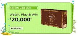 Amazon Nescafe Gold Quiz