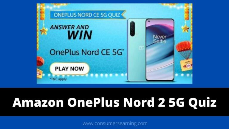 Amazon OnePlus Nord CE 5G Quiz Answers Today