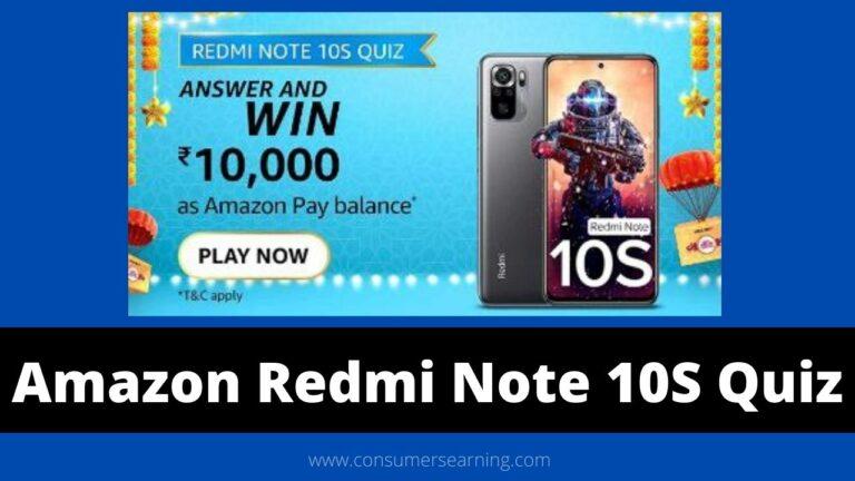 Amazon Redmi Note 10S Quiz Answers Today