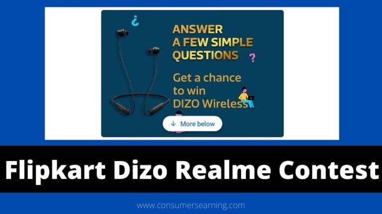 Flipkart Dizo Realme Contest