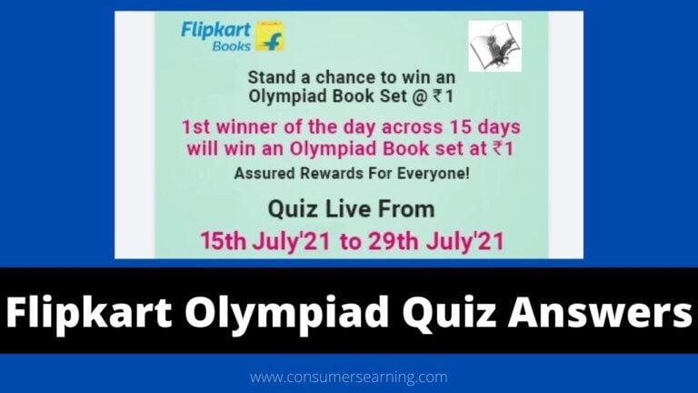 Flipkart Olympiad Quiz Answers
