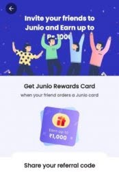 Junio App Refer And Earn Offer