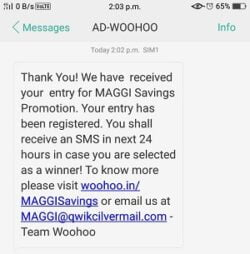 Maggi Savings Lot Number