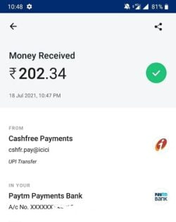 rizzle app withdraw proof