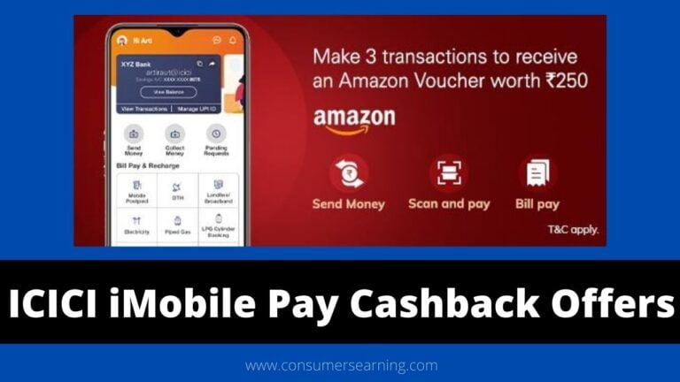 ICICI iMobile Pay Cashback Offer