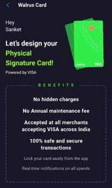 Walrus App Free Card