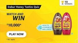 Amazon Dabur Honey Tasties Quiz Answers Today