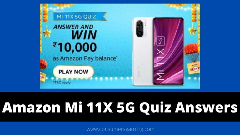 Amazon Mi 11X 5G Quiz Answers Today