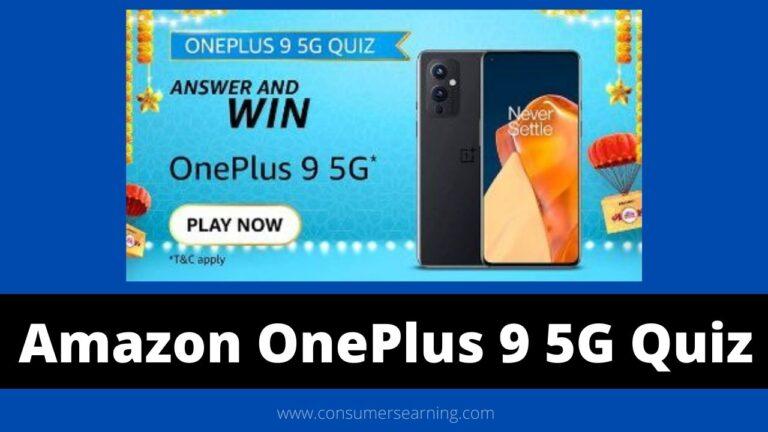 Amazon OnePlus 9 5G Quiz Answers Today