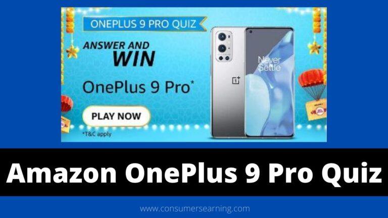 Amazon OnePlus 9 Pro Quiz Answers Today