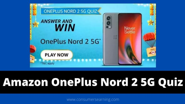 Amazon OnePlus Nord 2 5G Quiz Answers Today