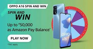 Amazon Oppo A16 Spin And Win Quiz Answers Today