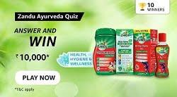 Amazon Zandu Ayurveda Quiz Answers Today