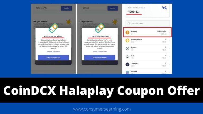 CoinDCX Halaplay Coupon Free Bitcoin Offer