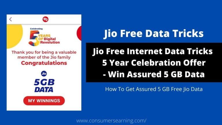 Jio Free Internet Data Tricks