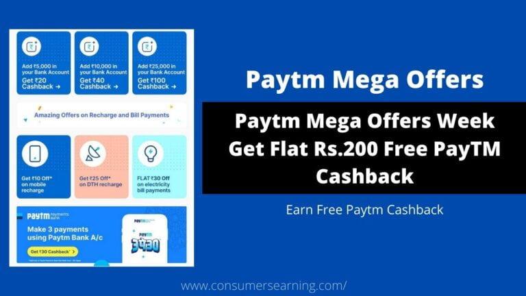 Paytm Mega Offers Week